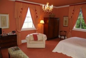 One of the bedrooms at Farnham Farmhouse