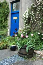 The front door of Gaia House