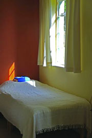 A bedroom at Gaia House
