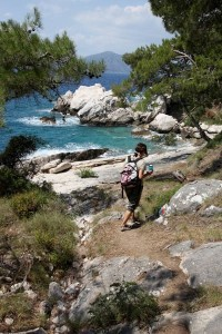 Walking by the coast in Turkey on a Jiva Healing holiday