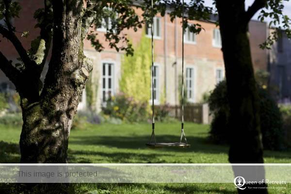 The dreamy swing in the garden of Littleton Mill