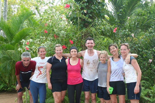 Queen of Retreats Editor Caroline Sylger Jones & her fellow fitness fanatics/wrecks on a Wildfitness holiday in Kenya