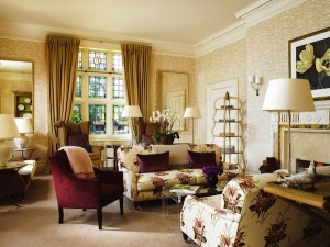 The soothing drawing room at Grayshott Spa
