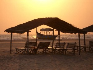 The beach at Mandrem Beach, Jiva Healing's chosen venue for their health breaks in Northern Goa