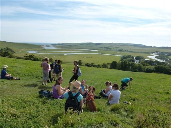 Fellow hikers on Jini Reddy's walk with Hike to Indulge in Sussex