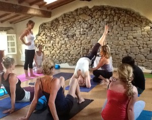 Reclaim Your Self yoga class in Italy