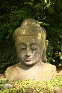 The buddha at The Retreat at Witherdens Hall in Kent