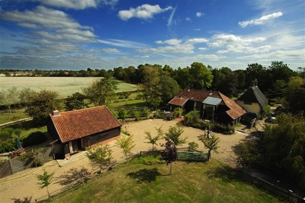 Potash Barns in Suffolk, one of the peaceful venues used by Satvada Retreats