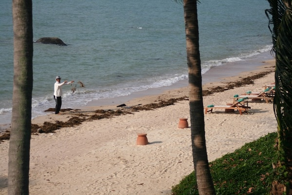 The beach at Kamalaya