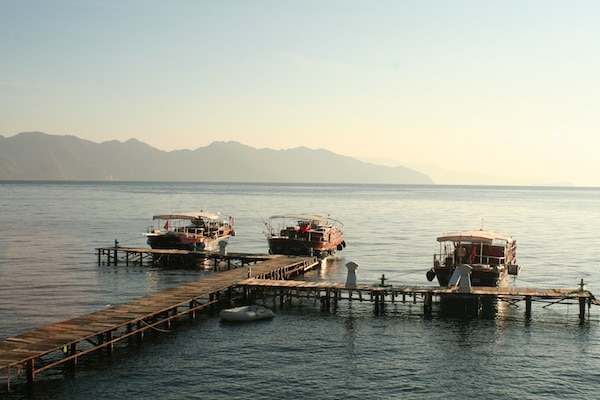 The private dock at The Dionysus Estate, Turkey