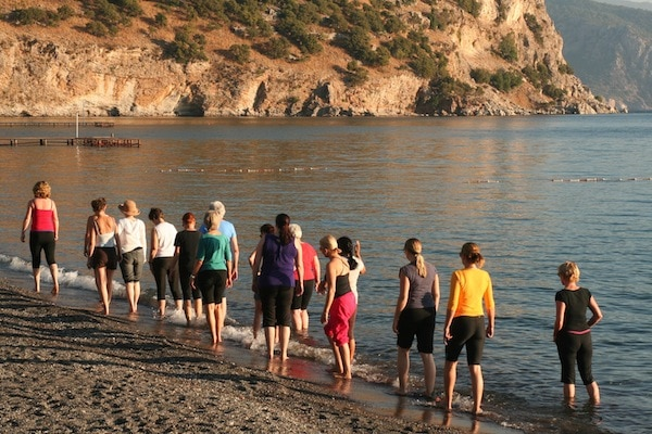 Learning to walk with your posture in mind on a Method Putkisto holiday on the Lycian Coast