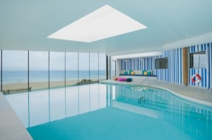 Watergate Bay Hotel View from the pool © Kirstin Prisk