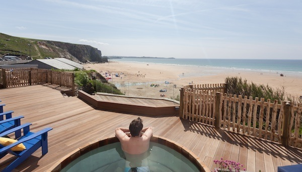 Watergate Bay Hotel hot tub