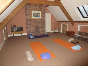 Yoga in the attic at Split Farthing Hall
