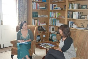 A life coaching session at Split Farthing Hall.