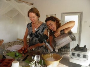 Guests on the raw food and detox workshop
