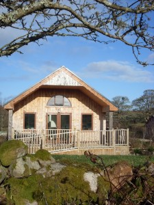 The comfy eco cabins have a Scandanavian vibe