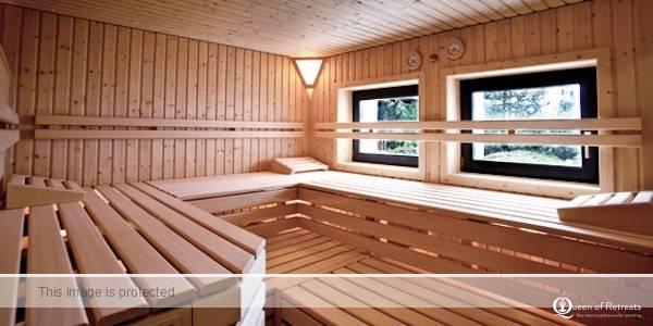 The sauna at Hotel Fidazerhof