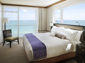 One of the bedrooms with a view at Canyon Ranch Miami