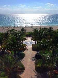 The beach view at Canyon Ranch Miami