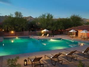 The pool at Canyon Ranch Tuscon