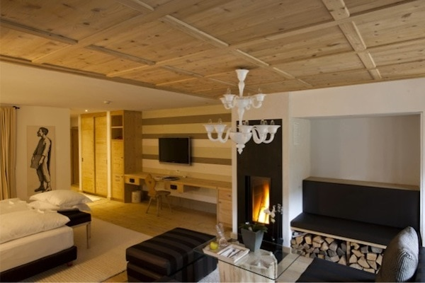 Our warm and welcoming chalet suite at Rosa Alpina
