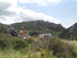 A group meditation in the wild
