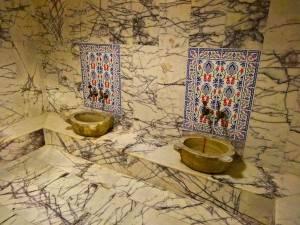 The Pomengrante hamam sinks