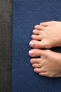 Caroline's yoga feet at Como © Caroline Sylger Jones:Queen of Retreats