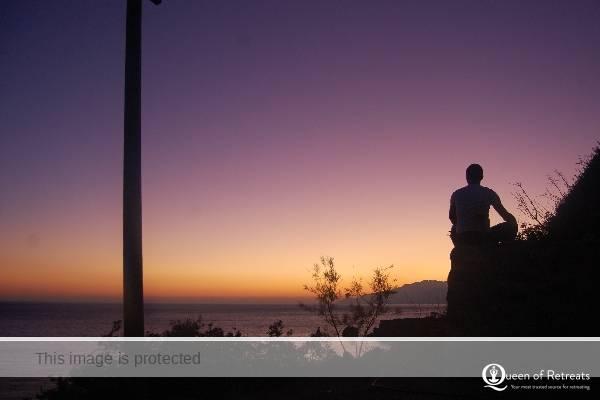 Meditation Yoga Rocks Sunset