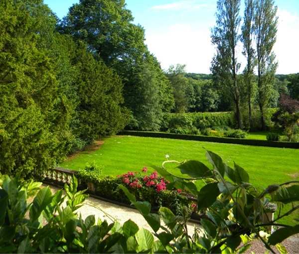 The grounds of Binden House, base for Amchara Health & Detox retreats in Somerset