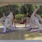 The yoga space at Can Amonita