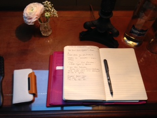 notebook on a retreat