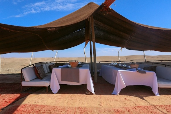 Dining in the desert in Morocco