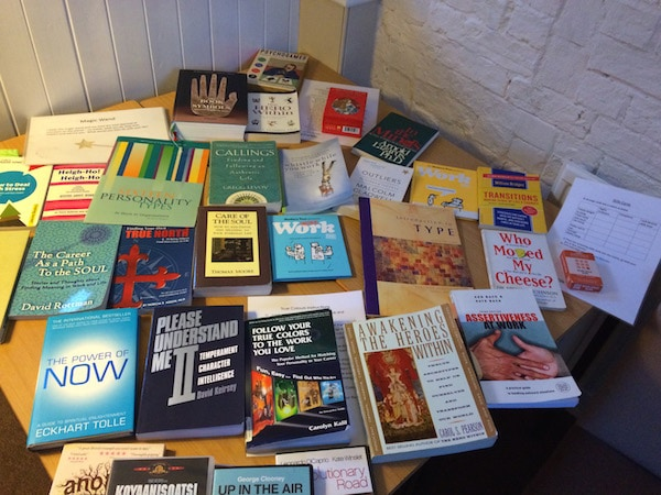 There's all sorts of inspiring reading recommended on A Life at Work career retreats