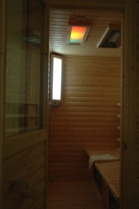 Warm up in the infared sauna in the MiniSpa at Witherdens Hall