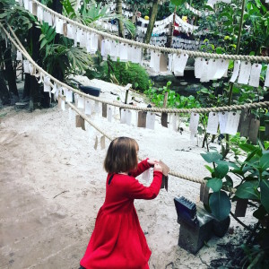 Caroline's daughter makes a Winter offering at The Eden Project