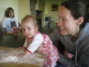 Mum and Baby experience making pasta