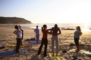 Beach yoga with Algarve Yoga