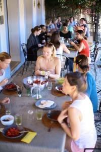 Eating at Algarve Yoga