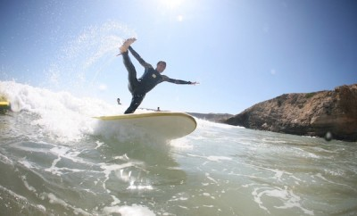 Surfing at Algarve Yoga