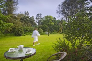 Tea in the gardens at Lifehouse Spa
