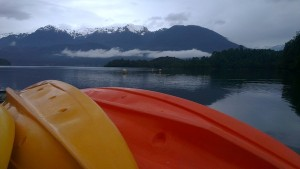 Puyuhuapi Lodge & Spa Chile canoes-fjord
