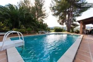 The pool at Casa Paradis retreat in Ibiza