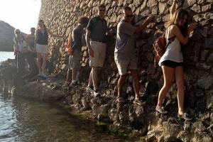 Cliffside walking with Ibiza Walking