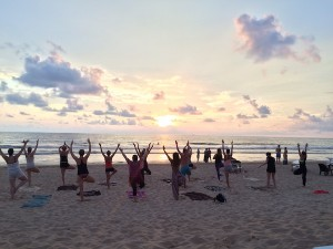 Adventure Yogi Sri Lanka beach yoga