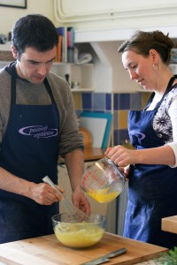 Cookery students at Demuths Cookery School