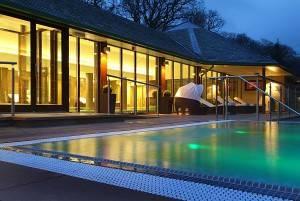 Armathwaite Hall spa outdoor hot tub