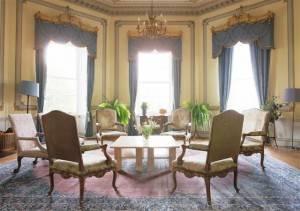 Sharpham, Devon, Sharpham House Octagonal Room