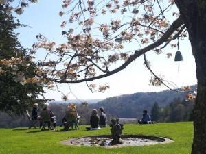 Sharpham, Devon retreatants, ornamental gardens